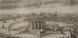 "Norrköping i planschverket ""Suecia antiqua et hodierna"", graverad av Johannes van den Aveelen 1706."