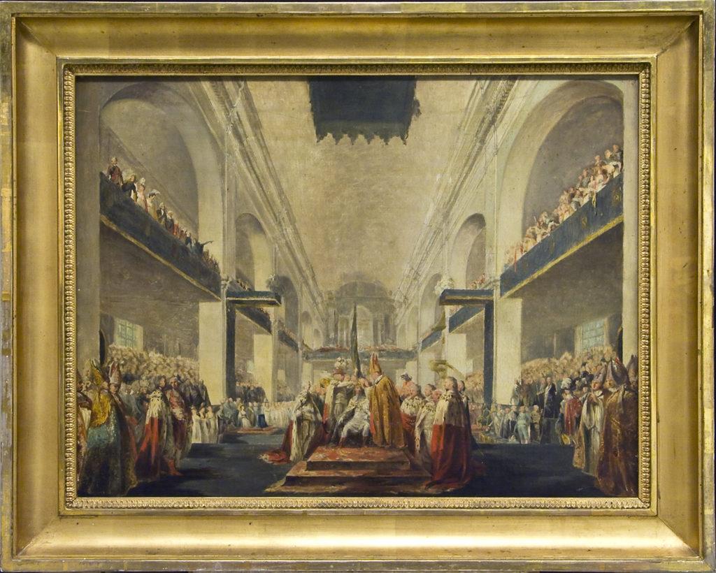 """Carl Fredric von Breda: """"Gustav IV Adolfs kröning i Norrköping år 1800"""". Foto: Mats Arvidsson/Norrköpings Konstmuseum"""